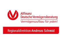 Das Logo des Vermögensberaters Andreas Schmid (Allfinanz Deutsche Vermögensberatung)